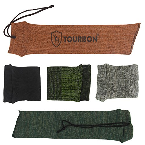 (TOURBON Pistol Sock Handgun Sleeve Gun Sack 15 inch (Pack of 5 Pieces))