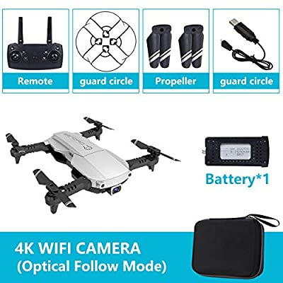 Mini Drone with Camera GPS WiFi 4K 1080P HD FPV Foldable RC Six-axis Gyroscope RTF 4CH 2.4Ghz Remote Control Headless [Altitude Hold] Gravity Sensor Super Easy Fly for Training