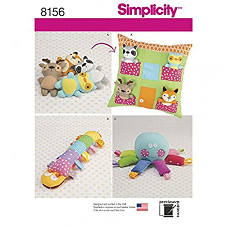 Simplicity Crafts Easy Sewing Pattern 8156 Stuffed Animal Toys ...