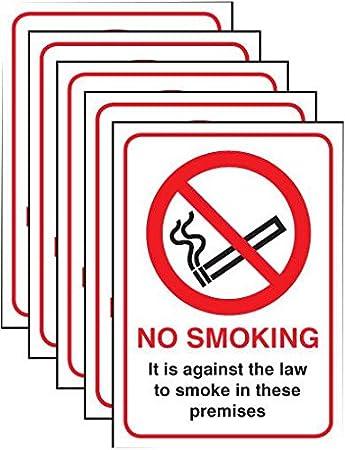 PIKE y CO® PKE29125 cartel no fumar ley RP W/min 3yr ...