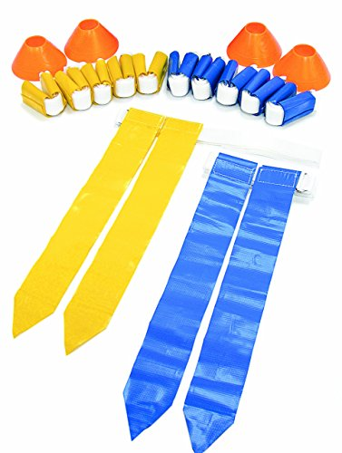 SKLZ 10-Man Flag Football Deluxe Set W/ Flags and Cones. (Renewed)