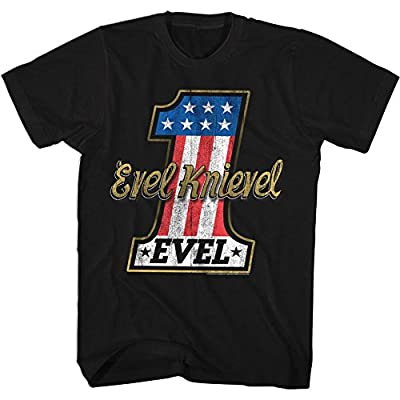 2Bhip Evel Knievel American Iconic Daredevil Motorcycle Adult T-Shirt Number One by 2Bhip