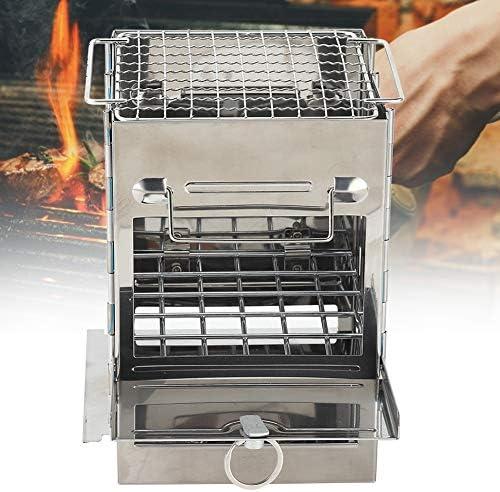 OhhGo Barbecue à charbon de bois Portable Pliable Mini Barbecue Extérieur Pique-nique Camping Grill à charbon de bois
