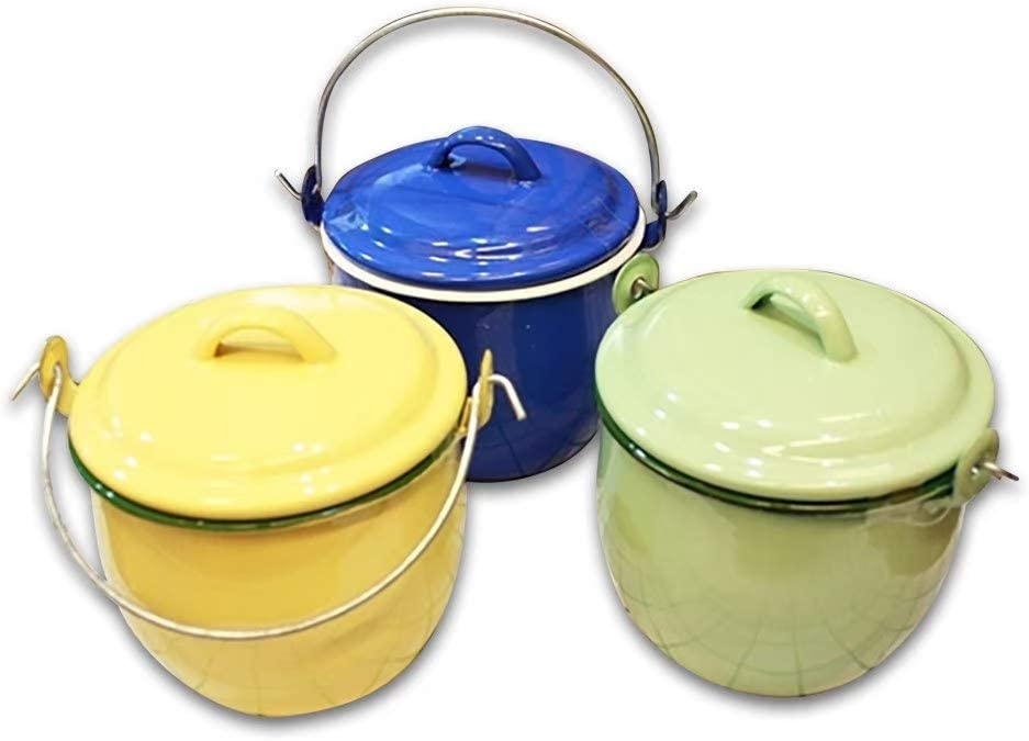 Thai Enamelware Mini Pot Green Color Safety for Food Original Thai Product Christmas Gift