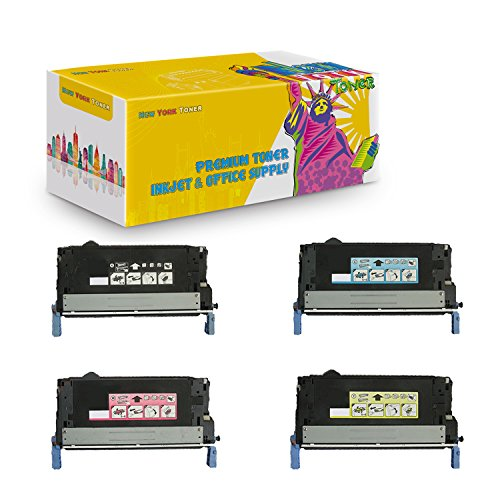 New York TonerTM New Compatible 4 Pack Q6460A Q6461A Q6462A Q6463A High Yield Toner for HP Color Laserjet 4730, 4730x MFP - Black Magenta Cyan Yellow -