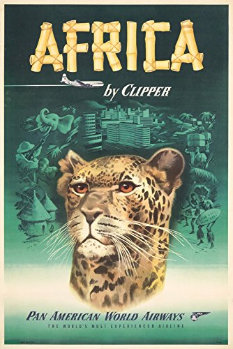 Pan Am - Africa Vintage Poster (Artist: Anonymous) USA c. 1941 (12x18 Signed Print Master Art Print w/Certificate of Authenticity - Wall Decor Travel Poster)