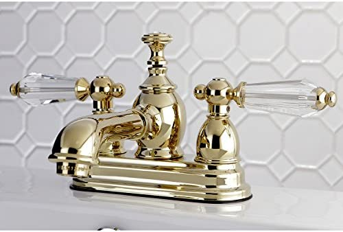 Kingston Brass KS7002WLL Wilshire 4-Inch Centerset Lavatory Faucet Pop-Up, 4-1 2 in Spout Reach, Polished Brass