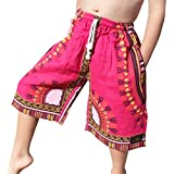 RaanPahMuang Branded Childs Dashiki Pants Pocket Baggy Gauze Thin Cotton Shorts