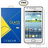 [2 Pack] Pellicola Vetro Temperato Samsung Galaxy S2 GT-i9100 - Schermo Antiurto Antigrafio