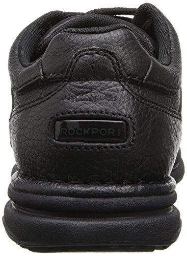 Rockport World Tour Classic K711 Herren Halbschuhe Black Tumbled Leather
