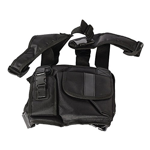Deluxe Rigging Knife - Marvogo Radio Chest Harness Chest Front Pack Pouch Holster Vest Rig for Two Way Radio Walkie Talkie(Rescue Essentials)