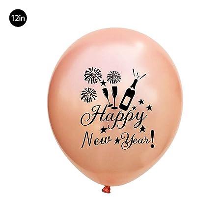Wetour balón Bona año Oro Rosa Negro Plata, látex decoración ...