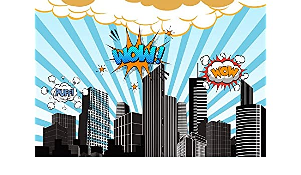 SUPER HERO  Silhouettes Cutouts Birthday Party Dance Decorations