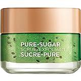 L'Oreal Paris Pure-Sugar Scrub with 3 Fine Sugars + Kiwi, Face & Lips, For Oily Skin, 50 ml