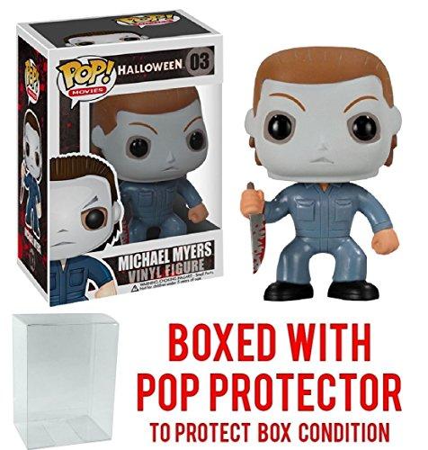 Funko Pop! Movies: Halloween - Michael Myers Vinyl Figure (Bundled with Pop BOX PROTECTOR CASE)