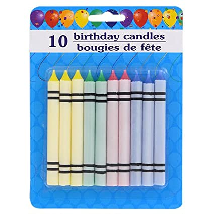 Velas de cumpleaños simples y brillantes, velas de fiesta ...