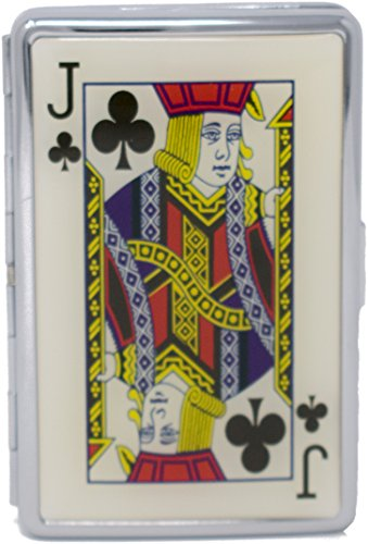 Plated Club - Jack of Clubs Compact (16 100s) Metal-Plated Cigarette Case & Stash Box