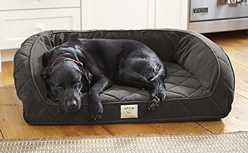 Orvis Deep Dish Dog Bed With Memory Foam / Only Medium Dogs Up To 40-60 Lbs., Slate, Medium
