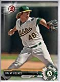 2017 Bowman Prospects #BP45 Grant Holmes Oakland Athletics Baseball Card
