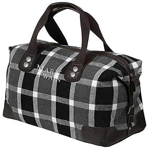 MARK TWAIN Weekender in Retro-Design - 52 Liter - Unisex große Reisetasche für Kurzreisen | Für Damen und Herren - Sporttasche und Reisegepäck in 67x26x30cm | modische Freizeittasche mit Innenfach