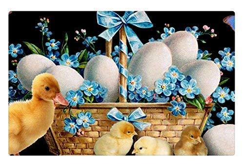 (Tollyee Indoor Floor Rug/Mat - Easter Basket Babies (23.6