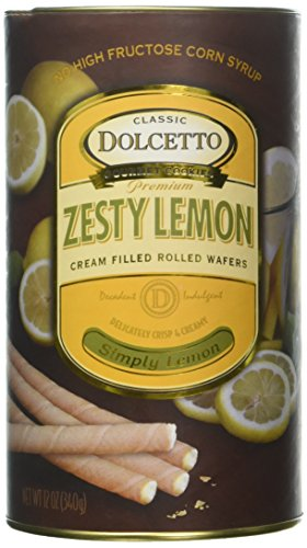 (Dolcetto, Wafer Rolls Lemon, 12 Ounce)