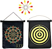 Magnetic Dart Board with 12pcs Magnetic Darts for Kids, Indoor Outdoor Board Games Set for Boys