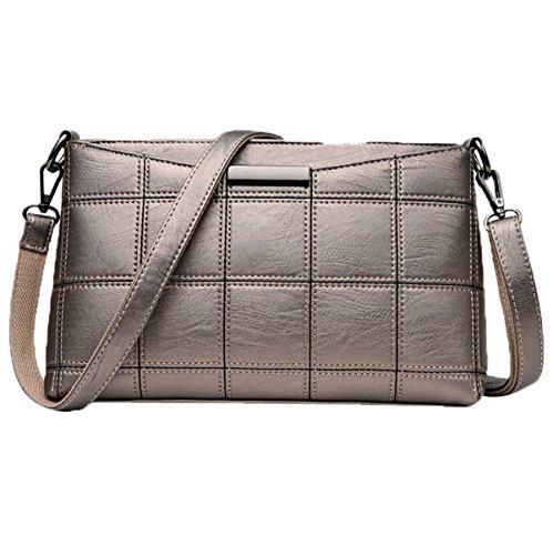 Bolso De Cuero Suave De Las Nuevas Bolsas De Bangalor De La Manera De Las Mujeres Ocasionales Bag Bag Satchel Leather Bag dorado