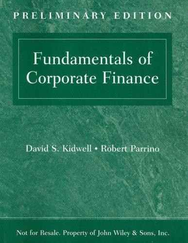 Preliminary Edition to accompany Fundamentals of Corporate Finance pdf epub