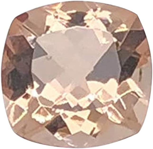 AAA++ Quality Morganite Cut Stone Craft Supplies Tool 3.75 ct Morganite Cushion 1 Piece 10 mm Morganite Cushion Morganite Birthstone