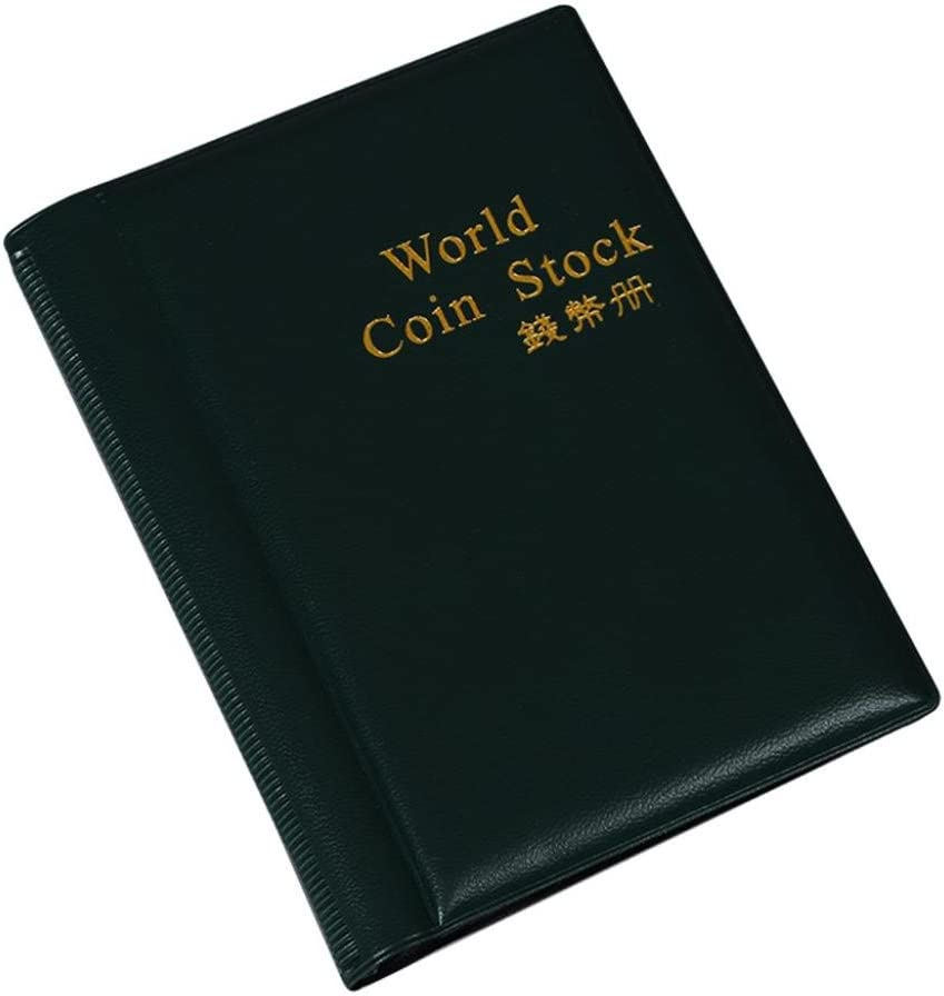 Black Xshuai/® 120 Coins Collection Holders Storage Money Penny Pocket Album Book Folder Notebook