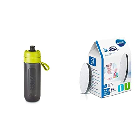 BRITA FILL AND GO ACTIVE SPORTS WATER FILTER BOTTLE 1 DISCS BPA FREE PURPLE