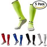 #2: Kids Soccer Socks 1 / 5 Pack Knee High Tube Socks Towel Bottom Pressure Football Socks ( 7-13 Years Little Kid / Big Kid )