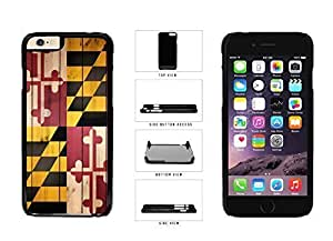 Maryland State Flag on Wood Plastic Phone Case Back Cover Apple iPhone 6 (4.7 Inches)