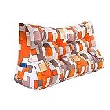 MS Pillow Orange Triangular Bed Cushion Bedside PP Cotton Cushion Pillow Tatami Backrest Lumbar Pillow Protection Waist Sofa Back Washable Geometric Patterns Multiple