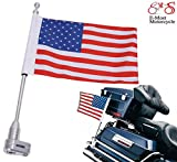 E-Most Motorcycle American Flag + Flag Pole Mount Luggage Rack Vertical For Honda GoldWing GL1800 ( 2001-2012 )