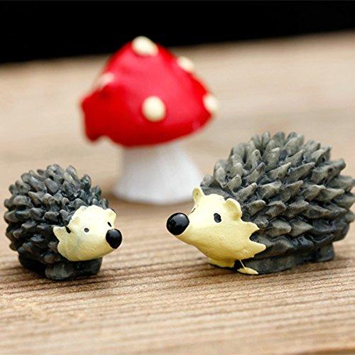 Hedgehog Mushroom Miniature Fairy Garden