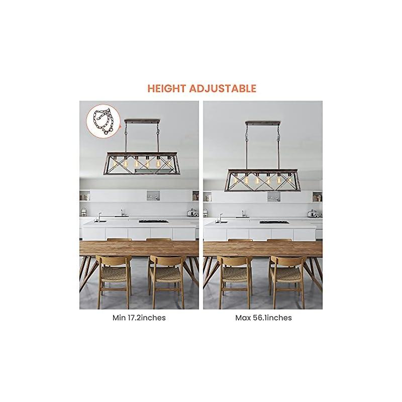 POVISON Farmhouse Chandelier, Chandeliers for Dining Room, Dining Room Light, Kitchen Island Lighting, 6-Light Farmhouse…