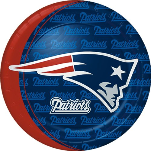 NFL New England Patriots Large Paper Plates (8ct)