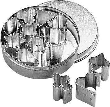 Birkmann 170063 - Moldes para galletas mini, 12 unidades, de 1 a 2 centímetros, caja con diámetro de 6.5 centímetros: Amazon.es: Hogar