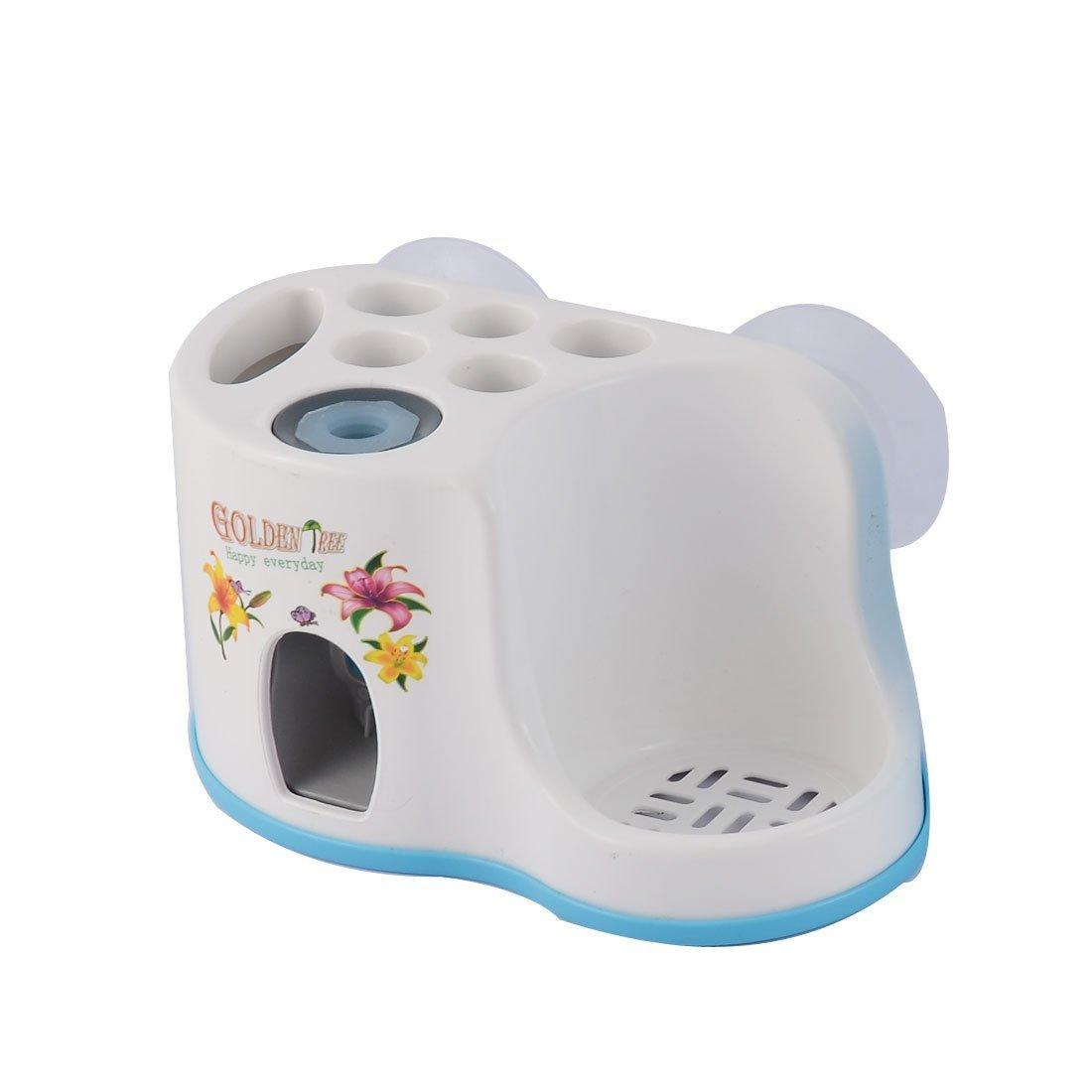 Amazon.com: eDealMax plástico de baño automático dispensador de Pasta de dientes cepillo de dientes están w Taza Azul: Home & Kitchen