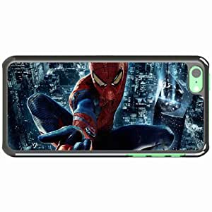 Apple iPhone 5C Case Covered of Custom The amazing spider man wide Black hjbrhga1544