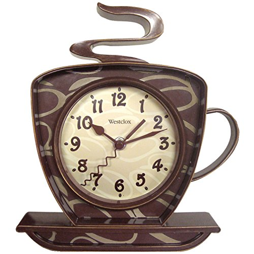 Pot Coffee Bird - Westclox 32038 Coffee Time 3-D Wall Clock