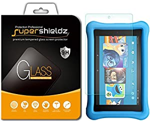 [2-Pack] Supershieldz for All-New Fire HD 8 / Fire HD 8 Kids Edition Tablet (2017 Release) Tempered Glass Screen Protector, Anti-Scratch, Anti-Fingerprint, Bubble Free, Lifetime Replacement Warranty