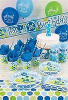 Unique Party- Globos de Látex Fiesta de Primer Cumpleaños de Tortuga, 8 Unidades, Color azul, 30 cm (40455)