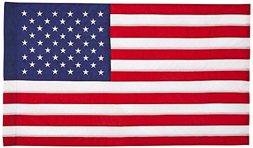 US Flag 2.5'x4' US AMERICAN FLAG 28x40 inch  Outdoor SolarMa