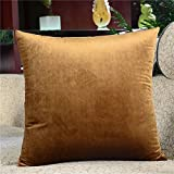 HOMEE Plush Pillow Cushion Sofa in the Living Room Pillow to the Head of the Backrest Car Back Support Cushion Lumbar Pillow Cushion Chipset ,32X50Cm, Brown,Brown,32X50