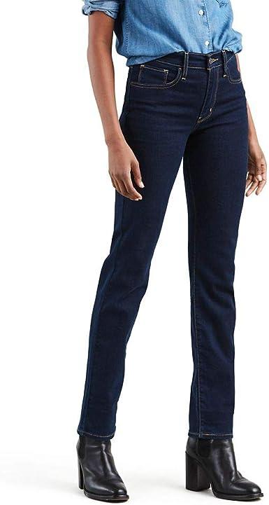 Levi S 724 Pantalones Vaqueros Rectos Altos Para Mujer Amazon Es Ropa Y Accesorios