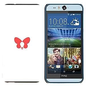 EJOOY---Cubierta de la caja de protección para la piel dura ** HTC Desire Eye M910x ** --mariposa de color rosa