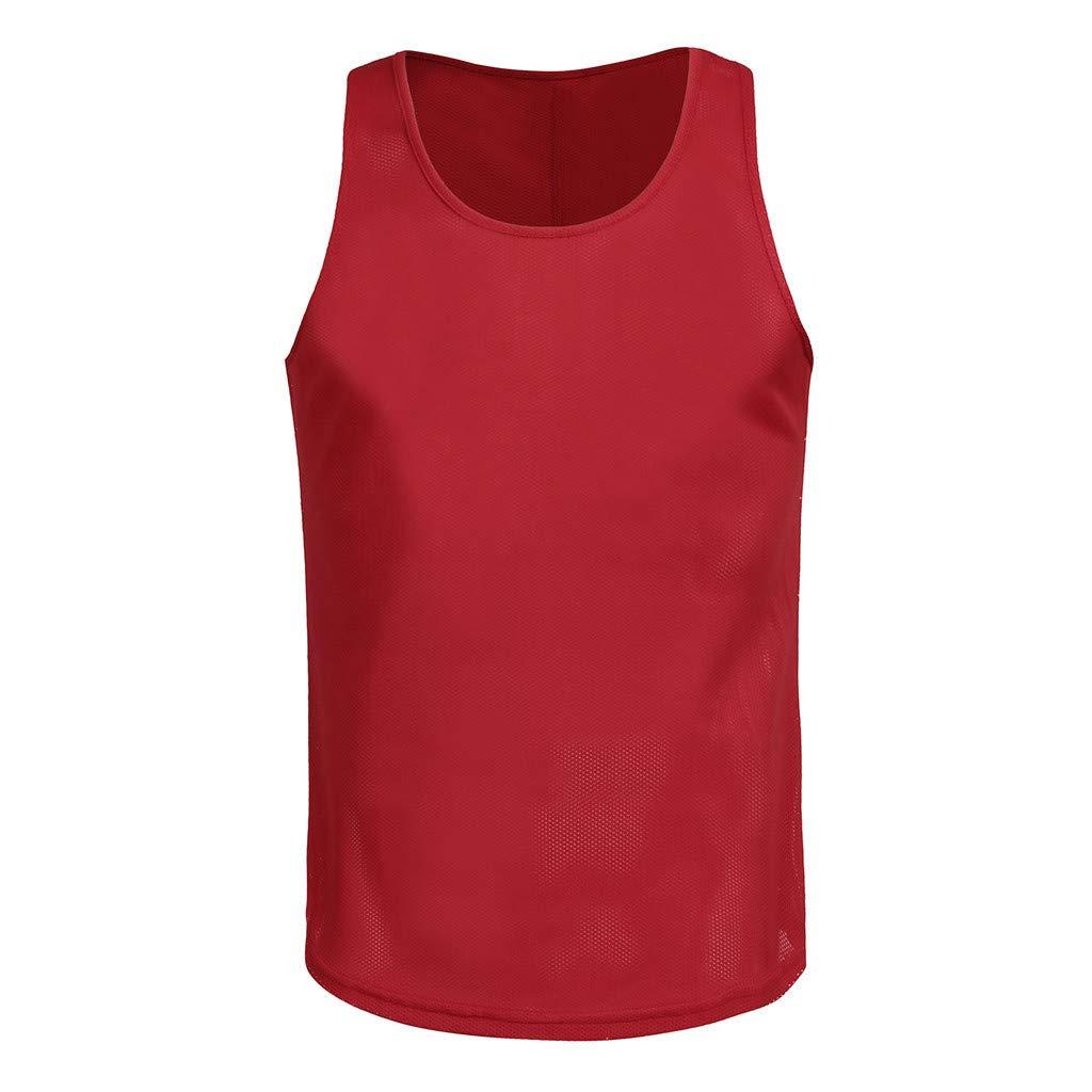 T-Shirts Tops f/ür Herren,/Ärmelloses M/änner-Tanktop T-Shirt Mesh Atmungsaktiv Bodybuilding Sport Fitness Weste,Slim Fit Basic T-Shirts Bluse Streetwear Sweatshirts Sommerblusen Trainingsanz/üge